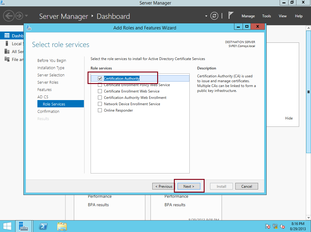 Step By Step Deploying A Standalone Root Ca In Server 2012 R2